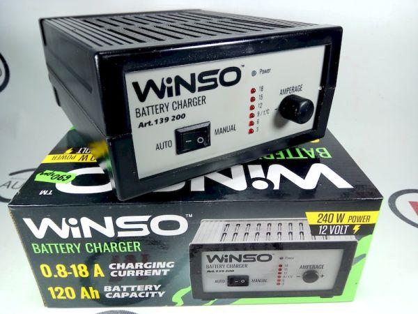Зарядное устройство WINSO 139200 ( 240W power,12V,18A,120 Ah, без амперметра)