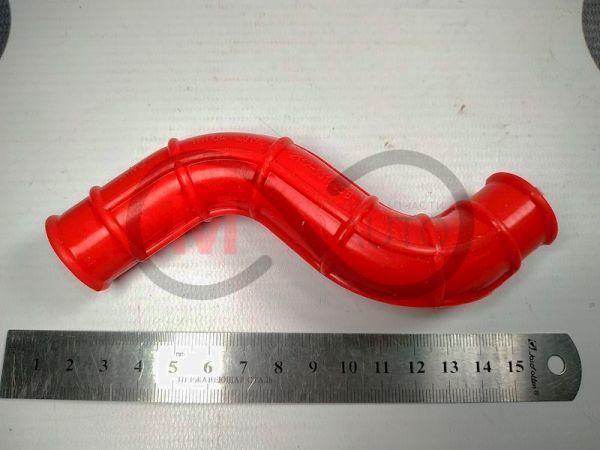 """Патрубок картера вентиляции ВАЗ 2110-12, 16 кл., верх. """"сапунёнок"""", силикон, красный"""