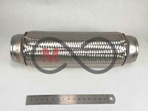 Гофра глушителя 50Х250 WALLINE (3-х слойная, длинный фланец, нерж. сталь)