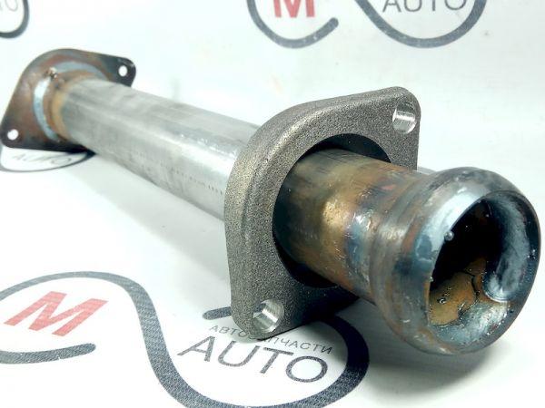Экрис 2110-1206011 Вставка вместо катализатора (вставка нейтрализатора)  с оригинальным литым фланцем для автомобилей ВАЗ 2110-2115, 21073 Евро -2